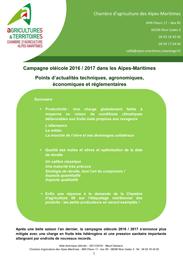Ol iculture campagne 2016 2017 dans les alpes maritimes - Chambre agriculture alpes maritimes ...