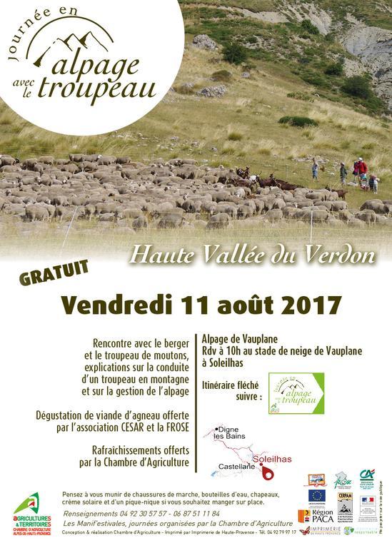 04 journ e en alpage dans la haute vall e du verdon for Chambre d agriculture hautes alpes