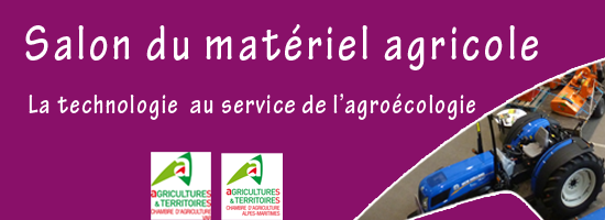 Salon du mat riel agricole les exposants provence for Salon du materiel agricole