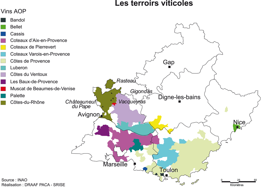 Description De La Viticulture En Paca Provence Alpes